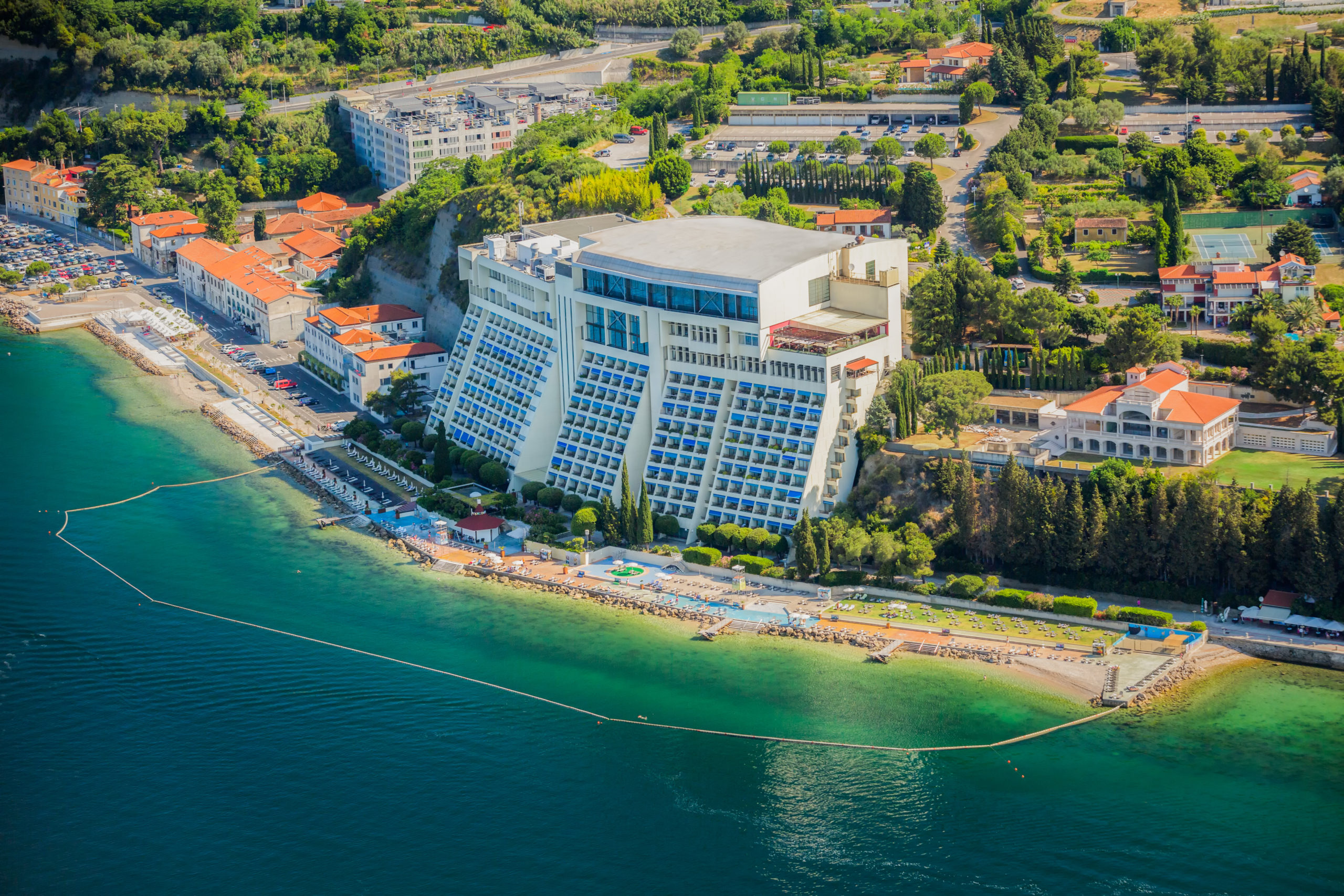 Grand hotel Bernardin-beach-panorama-from-air
