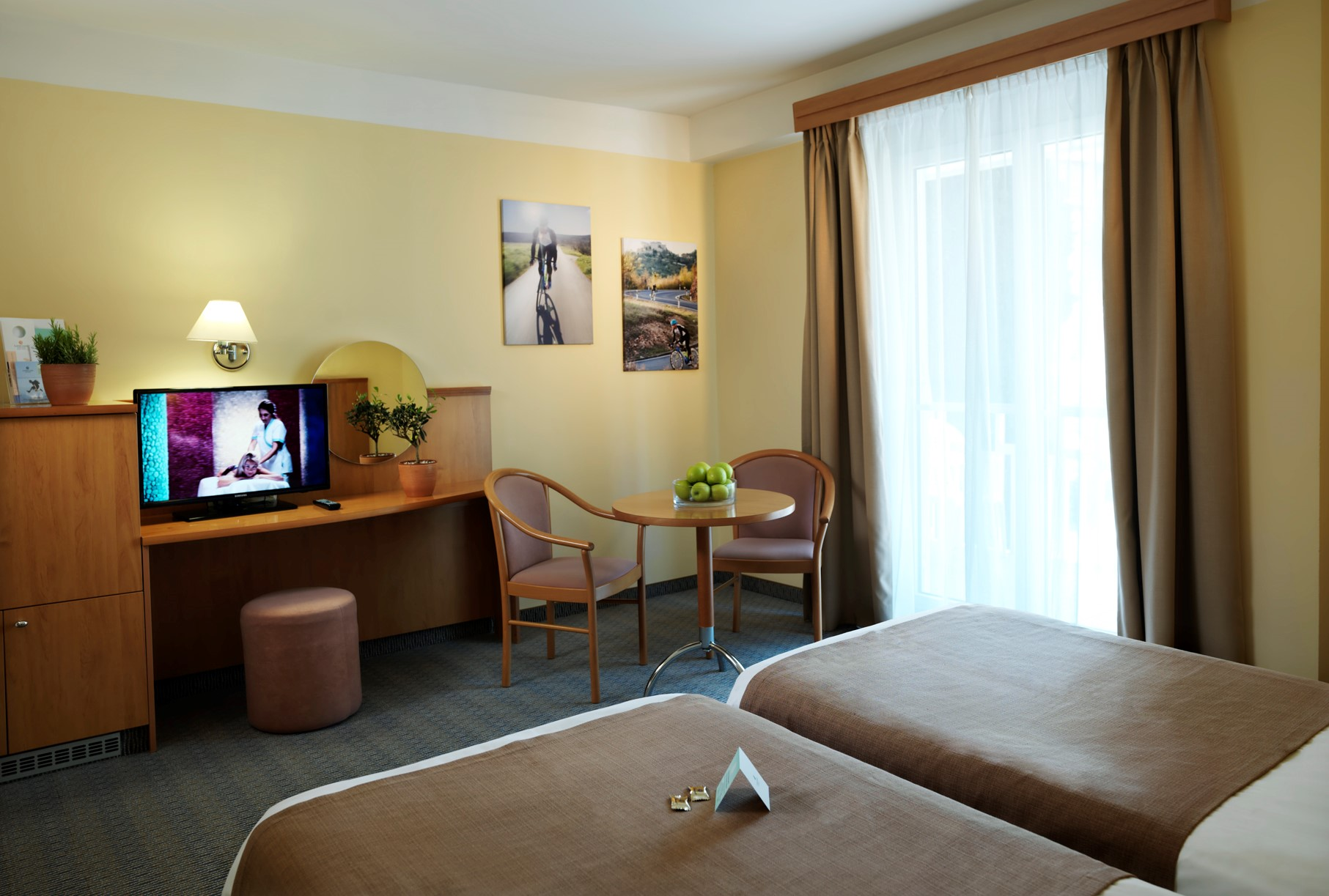 hotel-neptun-twin-bed-television-window